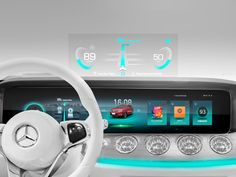 Concept HMI Design designed by SF. Connect with them on Dribbble; Automotive Logo, Automotive Design, Automotive Industry, Digital Dashboard, Car Ui, Windshield Washer, Oil Change, Display Design, Interactive Design