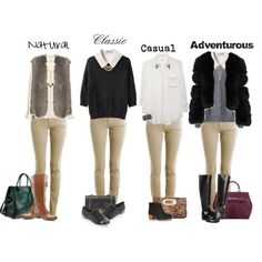 Add layers (vest, sweater, jacket) switch up shoes, add accessories  styling school uniform