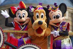Mickey, Minnie and Pluto