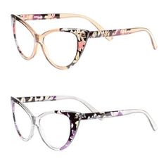 Shop for Womens Cat Eye Reading Glasses, 2 Pairs - 1 brown, 1 gray. Get free delivery On EVERYTHING* Overstock - Your Online Accessories Outlet Store! Get in rewards with Club O! Cheap Eyeglasses, Eyeglasses For Women, Funky Glasses, Glasses Frames, Fashion Eye Glasses, Cat Eye Glasses, Granny Glasses, Cat Eye Frames, Glasses Online