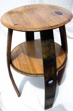 Wine Barrel DoubleTop Table by TheValleyBarrel on Etsy, $250.00