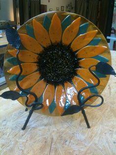Flower bowl by Monte Verde Art Glass Studio