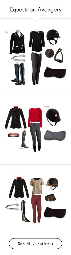 """Equestrian Avengers"" by overthecrossrails ❤ liked on Polyvore featuring Vero Moda, Ariat, VILA, Parlanti, CC, Joules and Spooks"