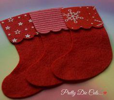 Felt Christmas Stockings Xmas Decoration Packs by PrettyDieCuts