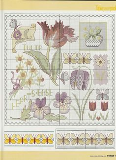 Tulip Heartsease Sampler, part 1 of   Gallery.ru / Фото #2 - Cross Stitch Crazy 057 март 2004 - tymannost