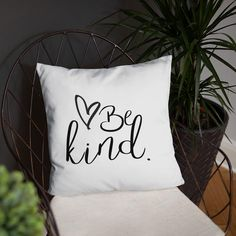 Be Kind Inspirational Throw Pillow – Living Word Designs