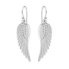 64ce45d4f Tuscany Silver Sterling Silver Angel Wing Drop Earrings Angel Wing Ring, Angel  Wings