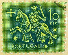 selo Portugal 10 Escudos