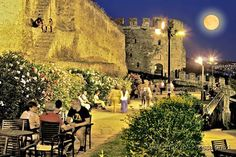 Tower of the old Byzantine fortifications in Ano Poli, (Upper town). THESSALONIKI - GREECE