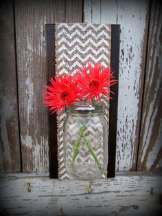 Mason Ball Jar  Reclaimed Wood Rustic Wall Sconce  by CountryAkers, $20.00