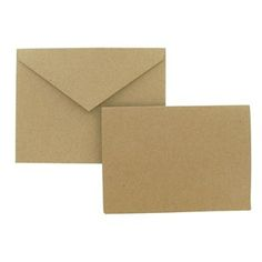 """the Paper Studio 4"""" x 5 1/2"""" Kraft Note Card Value Pack 