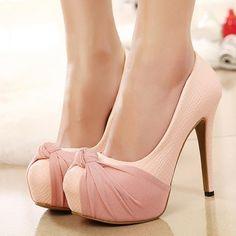 US $12 Hot Sale Round Toe Shallow Bow Platforms Heel-height Pumps White EMAIL:inform@clubwholesale.net Whatsapp:+8613925860560      #womensandals #wholesale #sandals #wholesalesandals