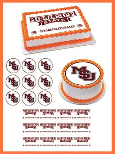 Mississippi State University Edible Birthday Cake Topper OR Cupcake Topper, Decor