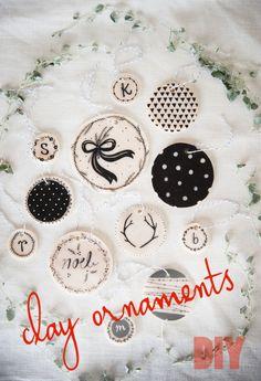 clay ornaments diy
