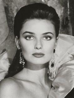 1988. Model Paulina Porizkova for Estée Lauder's Holiday Colours campaign. Photo by Victor Skrebneski (B1929)