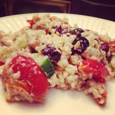 Meat Free Recipes for Lent Greek salad with orzo