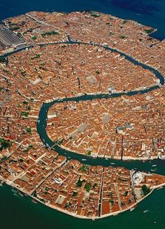A view of Venice you don't usually see - from the air. Spectacular!