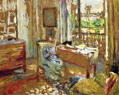 "EDOUARD VUILLARD / Madame Vuillard Cousant Rue De La Tour, Dit ""L'echafaudage"""