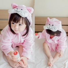 Buy Cute Children Soft Flannel Cartoon Animal Bathrobe Baby Pajamas online with cheap prices and discover fashion Girls Clothing,Sleepwear at Shechoic.com.
