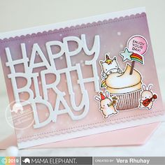 Hello friends, today is the last day of Mama Elephant Stamp Highlights. And today we are highlighting the Cupcake Wishes stamp set. Handmade Birthday Cards, Handmade Cards, Elephant Cupcakes, Mama Elephant Stamps, Fantasy Mermaids, Lawn Fawn, Unicorns, Quilling, Fairies