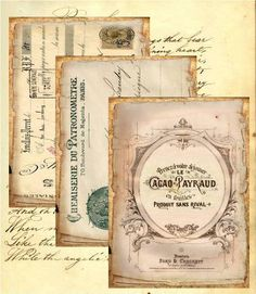 vintage french ephemera scrapbooking paper
