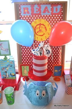 Love this Dr. Seuss party!  See more party ideas at CatchMyParty.com!