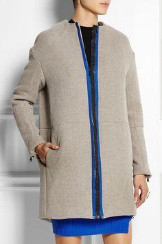 Opening CeremonyScuba wool-blend coat.