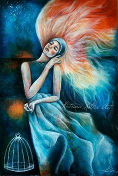 """The key to everything"" acrylic painting by katrina koltes"