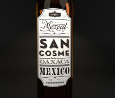 Designed by SAVVY  Concept: Mezcal San Cosme as a link between the past and the present. A direct analogy of a traditional quality Mexican product with aims to position itself at a worldwide level.