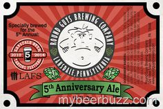 mybeerbuzz.com - Bringing Good Beers & Good People Together...: Round Guys Brewing - 5th Anniversary Ale