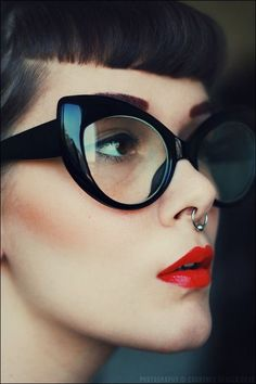 16d34f3a732 Large Big Oversized Thick Frame Cat Eye Glasses Frames Pin UP Paradise