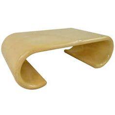 Marvelous Karl Springer Style Coffee Table