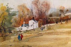 Jack Flynn Watercolors, Watercolor Paintings, Vermont, Landscapes, Artists, Sculpture, Fall, Paisajes, Autumn