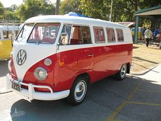 Red and White VW Bus 11 Window Kombi in Fort Worth, TX - Driver Side Front View by VWBuses, via Flickr