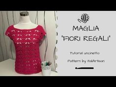(7) Maglia Fiori Regali, Tutorial uncinetto, Crochet Shirt, Royal Flowers Shirt - YouTube
