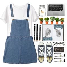 white and blue by shaniaayr on Polyvore featuring AR SRPLS, Forever 21, Converse, Theory, Harrods, Menu, Crate and Barrel, Ødd., GetTheLook and converse