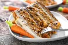 Carrot Cake Recipe With Buttermilk, Best Carrot Cake, Carrot Cakes, Cake With Cream Cheese, Cream Cheese Frosting, Just Desserts, Delicious Desserts, Brunch Cake, Glaze For Cake