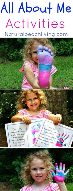 An Absolutely Adorable All About Me Activity, Family Keepsakes, Free Printables, Handprints, Footprints, fun activities for kids, Great Preschool Theme, ECE