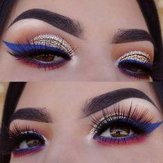 4th of July Eye Makeup Look #4thofjuly #summer #summermakeup Makeup Ideas, Makeup