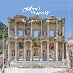Facade of the Roman Library of Celsus, Ephesus (Turkey) All Over The World, The Past, Pamukkale, Ephesus, Ancient Rome, Antalya, Places Ive Been, Facade, Places To Visit