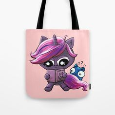 Buy Reading Unicorn Tote Bag by chaploart. Worldwide shipping available at Society6.com. Just one of millions of high quality products available.