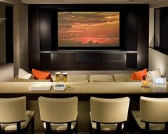 Loft ideas. TV room. Home Theater - Movie Room - Movie Theme Room - Media Room - TV Room - Den - Living Room - Family Room-  Feng Shui Your Media Room with a Professional Feng Shui Consultation at www.DeniseDivineD.com/feng-shui-design