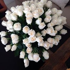 STUNNING WHITE ROSES TubaTANIK carisma Design Since our wedding Day, my darling husband gave me white roses & 30 plus yrs later he still does..I THANK GOD FOR HIM. LOVE U..XO XO DONNA