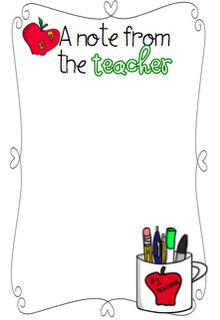 notes to parents from teachers templates