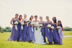 Regal purple bridesmaids