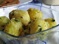 Receta Entrante : Patatas al vapor salteadas con perejil por Begoña