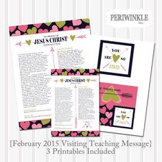 February 2015 LDS Visiting Teaching Message Printables-LDS-Mormon by periwinkleinc on Etsy https://www.etsy.com/listing/220453403/february-2015-lds-visiting-teaching