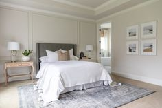 Summer Home Tour Master Bedroom neutral master suite, grey vintage rug Related posts: [New] The 10 Best Bedrooms (in the World) Master Suite, Master Bedroom, Queen Bedroom, Home Decor Bedroom, Modern Bedroom, Bedroom Ideas, Neutral Bedrooms, Home Office, Home Upgrades