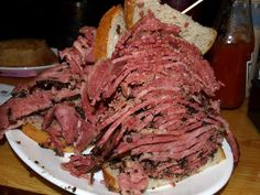 "our hotel has a branch of the NY Carnegie Deli with the ""Woody Allen"" pastrami sandwich i have been dreaming about for a year now. GETTING THIS>"