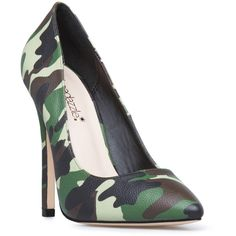 ShoeDazzle Pumps Elizabeth Womens Green ❤ liked on Polyvore featuring shoes, pumps, green shoes, pointy toe pumps, print pumps, patterned pumps and pointed toe pumps
